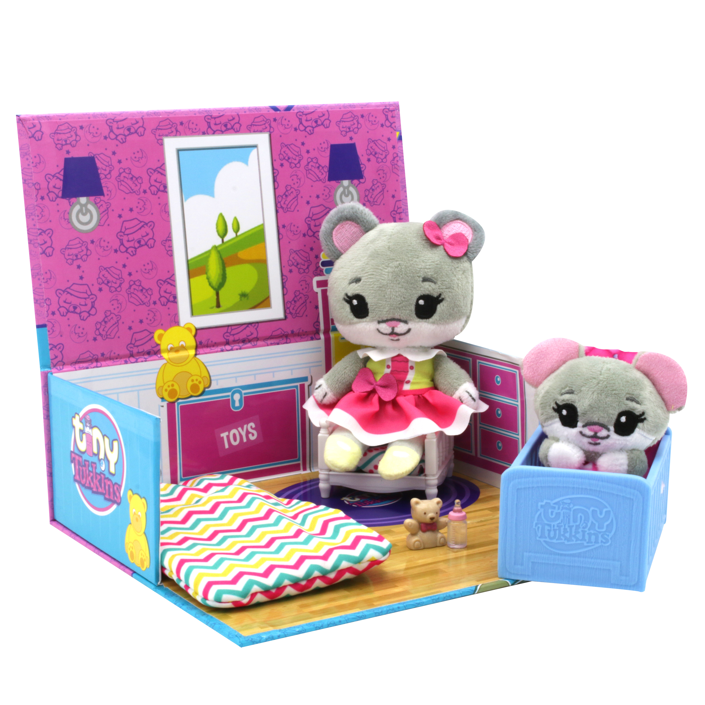 Mouse Tiny Tukkins Playset Assortment with Plush Stuffed Character